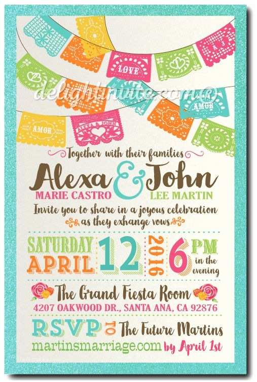 Mexican Wedding Invitations 25 Best Ideas About Mexican Wedding Invitations On