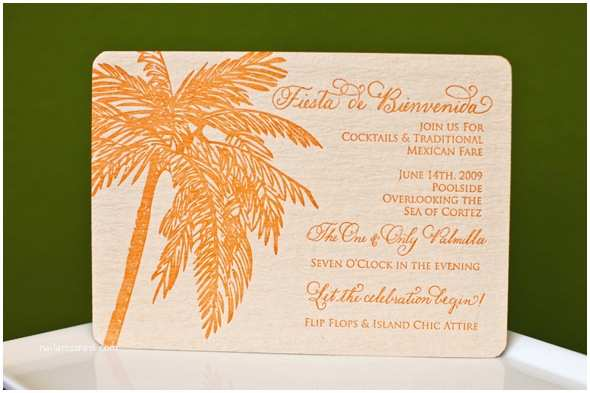 Mexican Wedding Invitations Destination Wedding Invitations