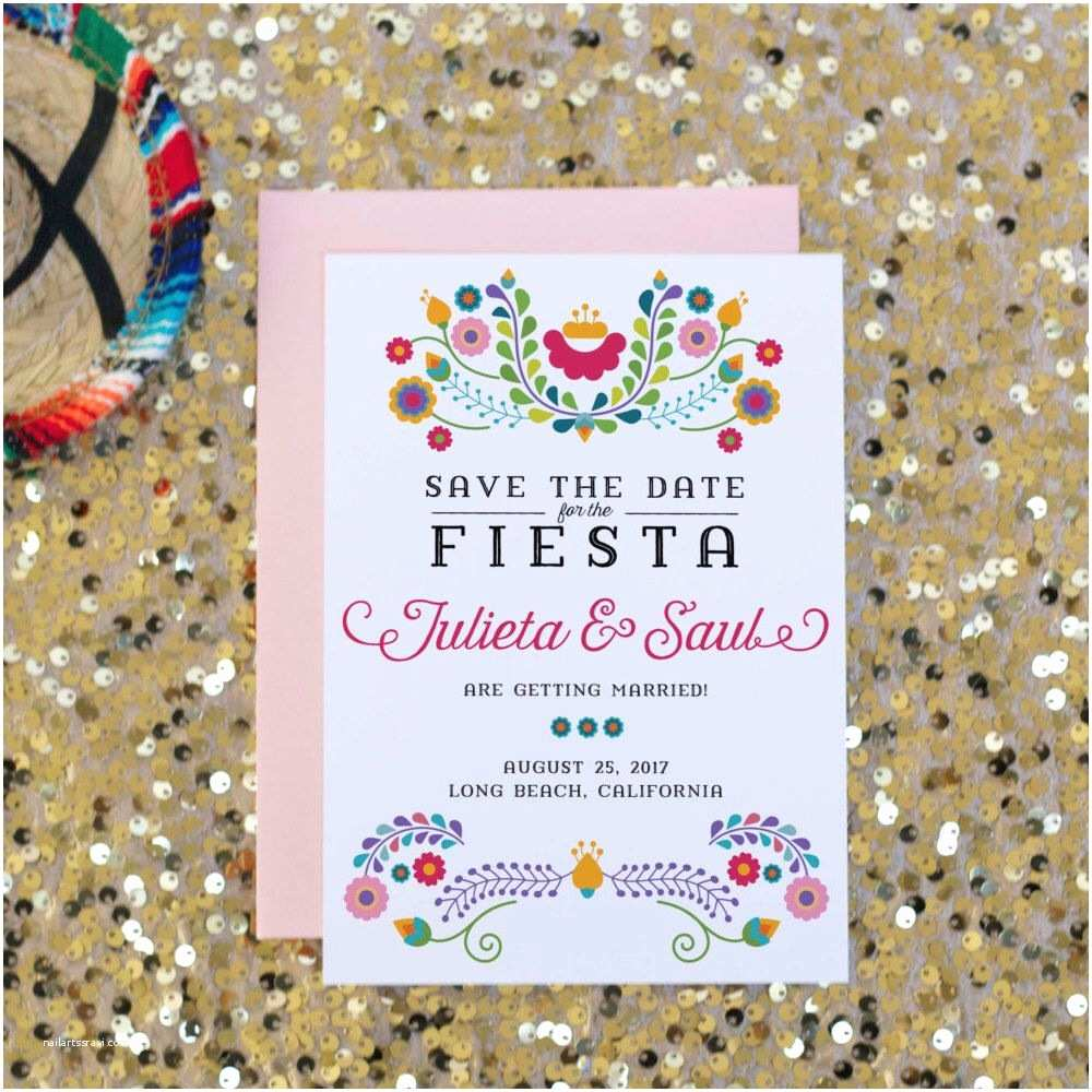 Mexican Wedding Invitations Fiesta Save the Date Wedding Invitation Mexican
