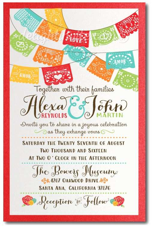 Mexican Wedding Invitations Mexican Fiesta Paper Flag Wedding Thank You Cards [di
