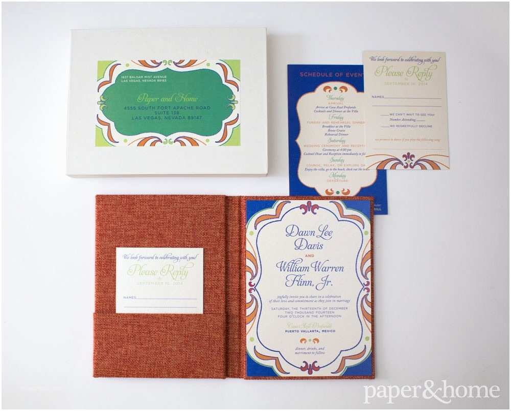 Mexican Wedding Invitations Mexican Wedding Invitations Dawn and William Paper and Home