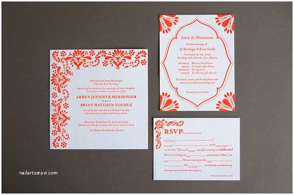 Mexican Wedding Invitations Mislay S Blog Pistachio Press Letterpress Wedding