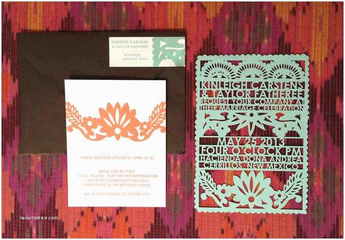 Mexican Wedding Invitations Real New Mexico Wedding Invitations Via Jessie Baca – Avie