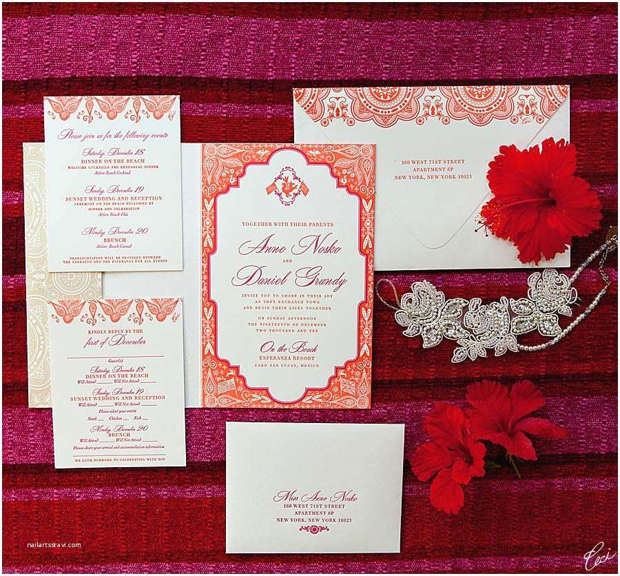 Mexican Wedding Invitations V40 Our Muse Mexico Beach Wedding Anne & Daniel Part