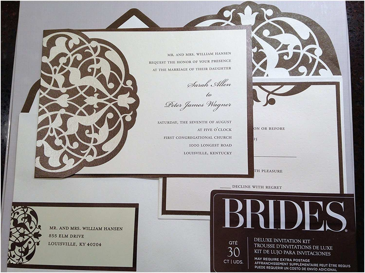 Michaels Do It Yourself Wedding Invitations Brides Diy Wedding Invitation Kit Brown Ivory Templates