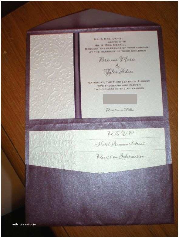 Michaels Do It Yourself Wedding Invitations Pletely Diy Pocketfold Invites
