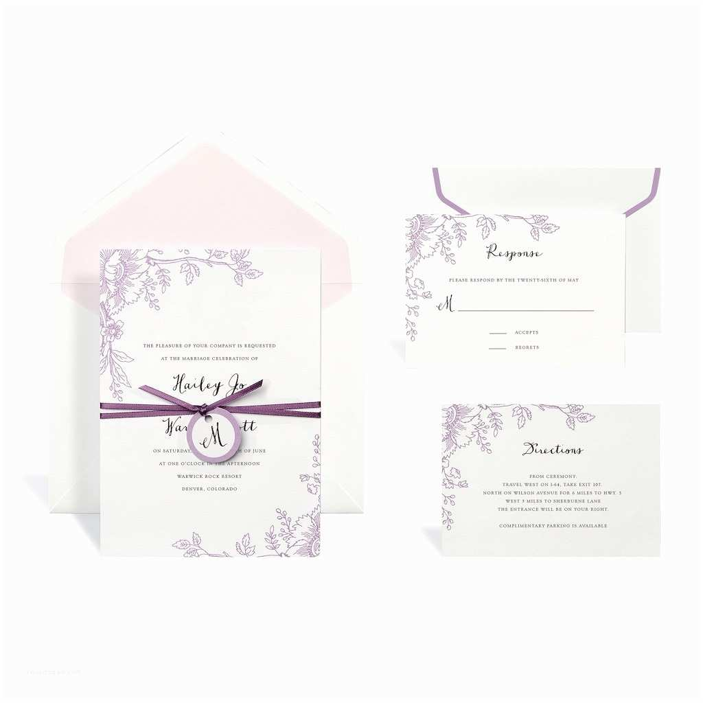 Michaels Printable Wedding Invitations Find the Floral Purple Wedding Invitation Kit by Celebrate