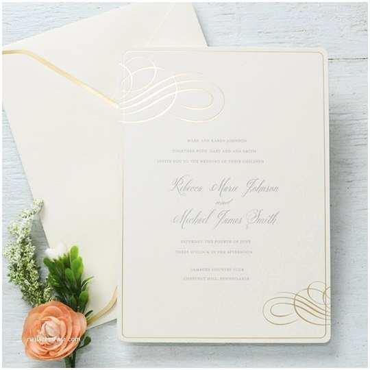 Michaels Printable Wedding Invitations Gartner Studios formal Gold Foil Swirl Invitation