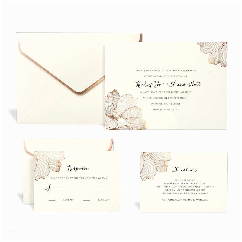 Michaels Printable Wedding Invitations Shop for the Rose Gold Floral Wedding Invitation Kit by