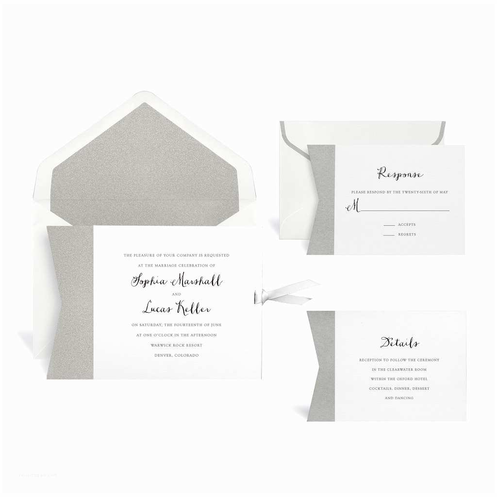 Michaels Wedding Invitations Buy the Silver Wedding Invitation Kit by Celebrate It™ at