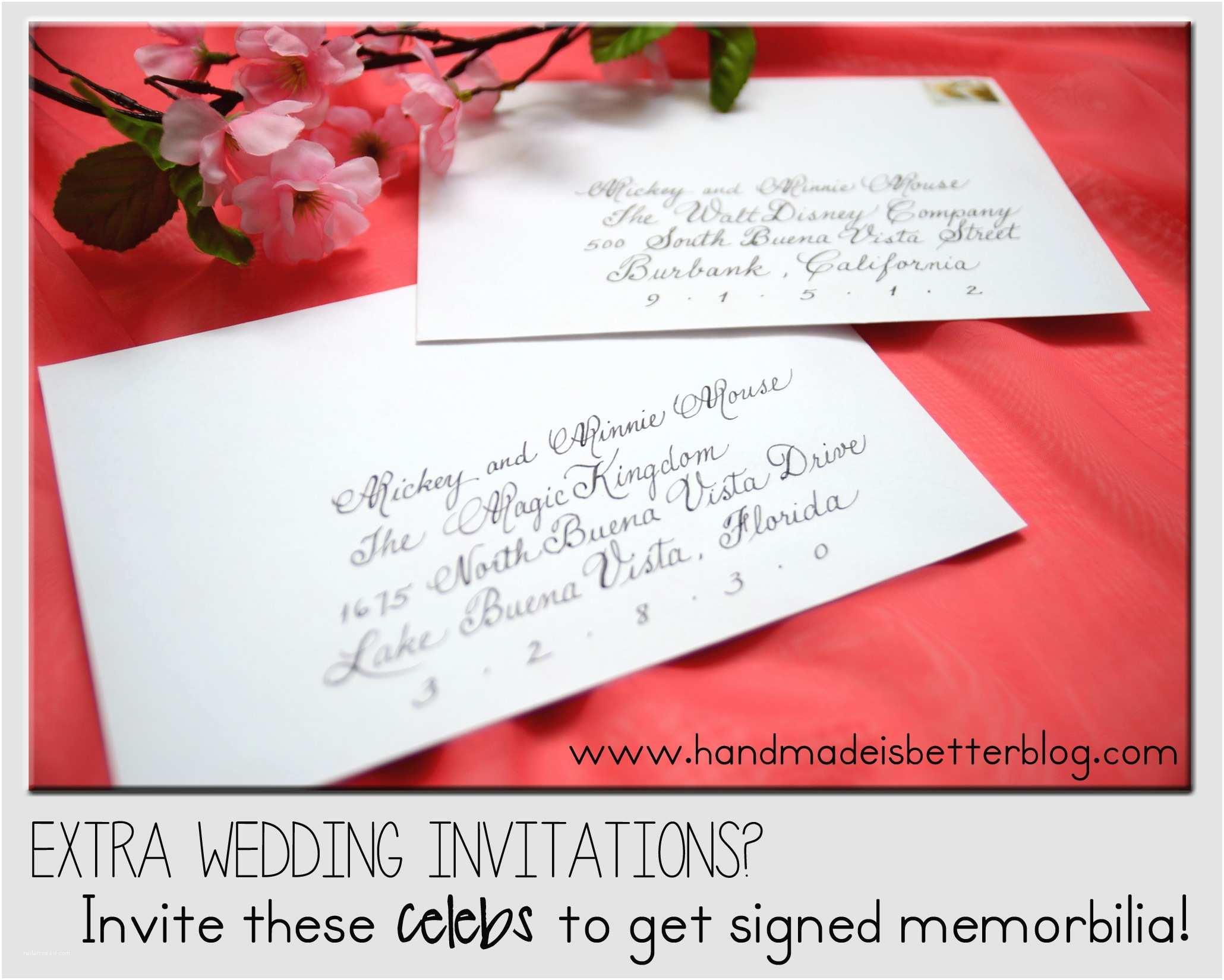 Mickey and Minnie Wedding Invitation Extra Wedding Invitations Invite these Celebrities to Get