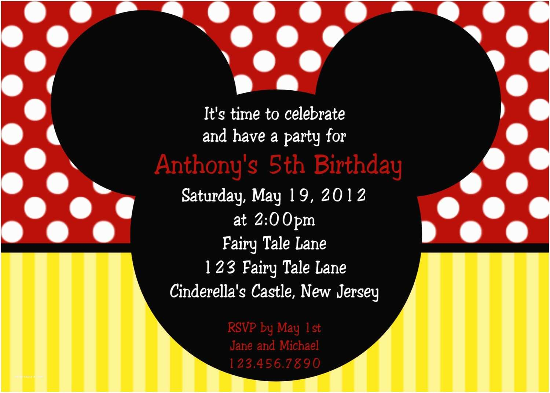 Mickey and Minnie Wedding Invitation Mickey and Minnie Invitation Template Various Invitation