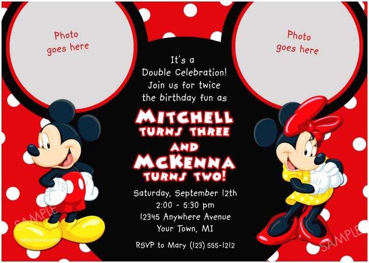 Mickey and Minnie Wedding Invitation Mickey Mouse Birthday Invitations Ideas – Bagvania Free