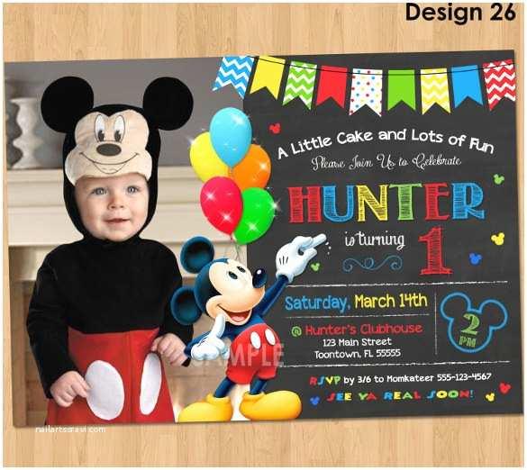 Mickey Birthday Invitations 14 Mickey Mouse Invitation Templates to Download