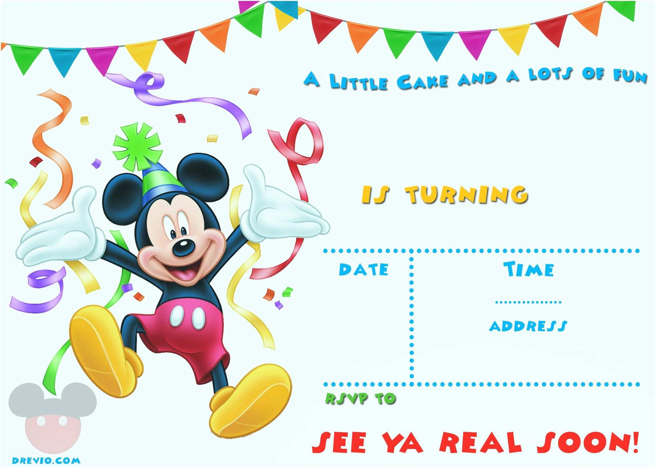 Mickey Birthday Invitations Free Printable Mickey Mouse Party Invitation Template
