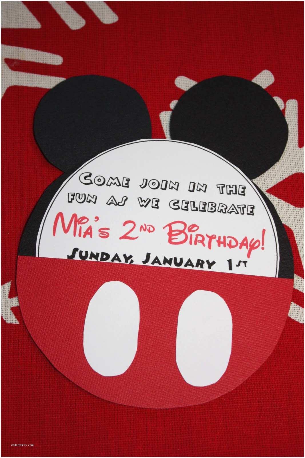 Mickey Birthday Invitations Mandy In Minneapoland Mickey Mouse Birthday Invites