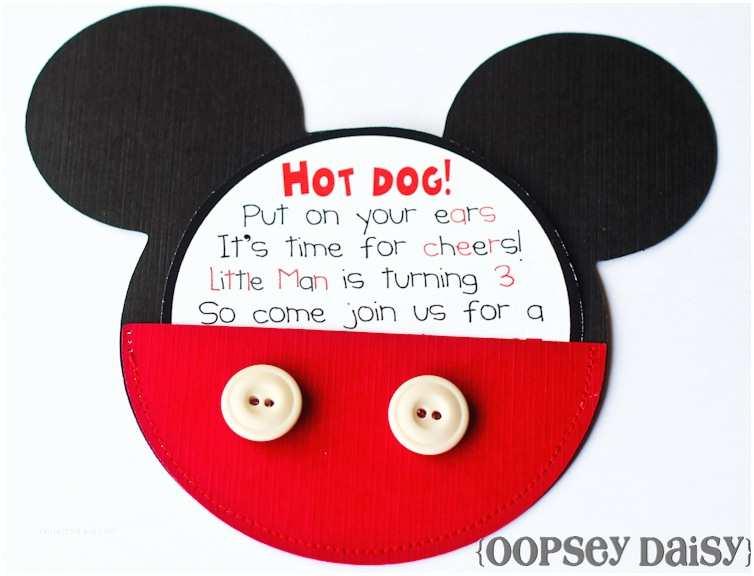 Mickey Birthday Invitations Mickey Mouse