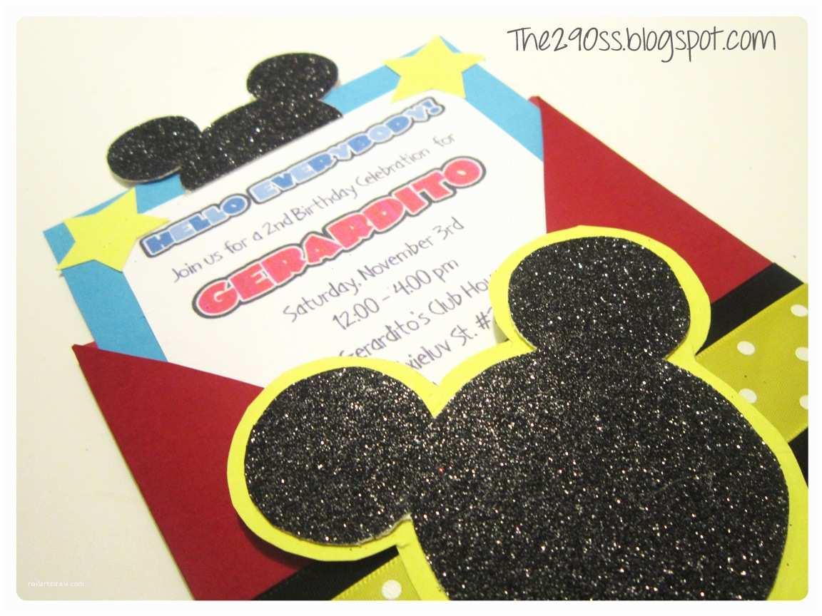 Mickey Birthday Invitations the290ss Diy Mickey Mouse Invitation