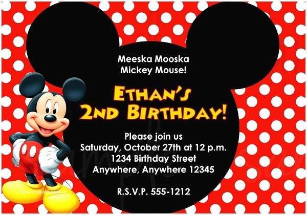 Mickey Mouse 1st Birthday Invitations Birthday Invitations 365greetings