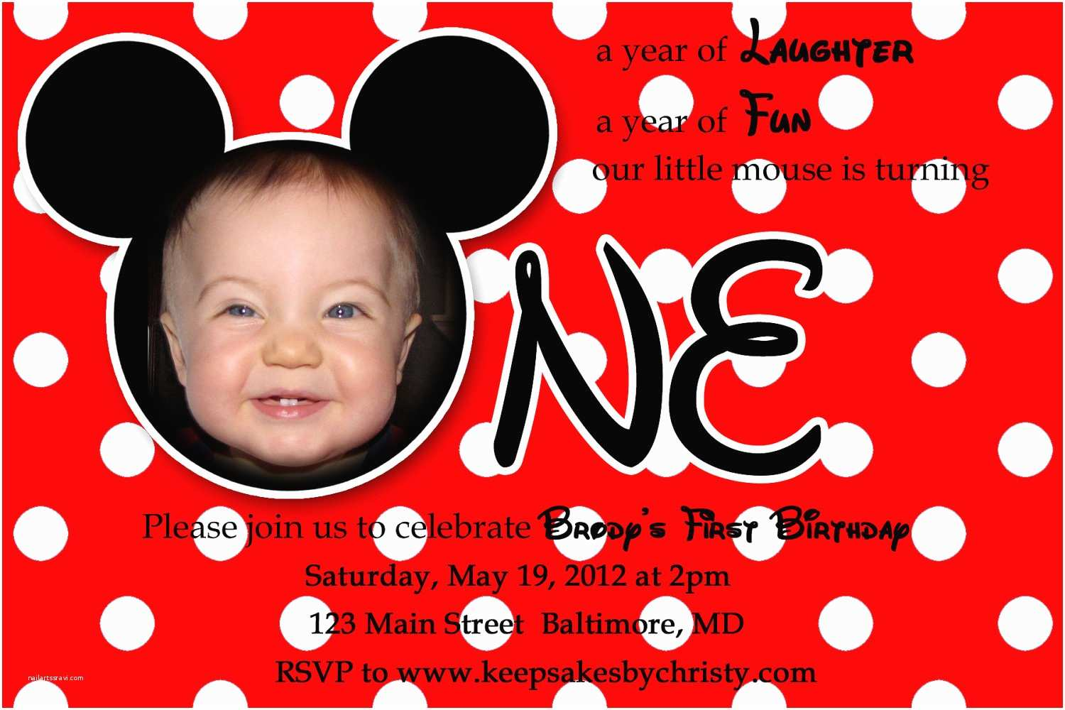 Mickey Mouse 1st Birthday Invitations Chandeliers Pendant Lights