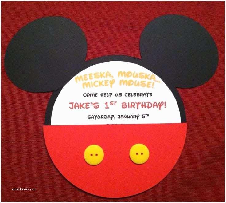 Mickey Mouse 1st Birthday Invitations Mickey Mouse 1st Birthday Invite Cricut Mickey and