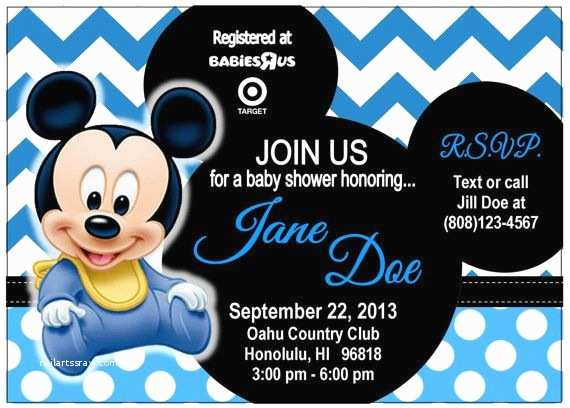 Mickey Mouse Baby Shower Invitations 17 Best Images About Baby Shower Mickey On Pinterest