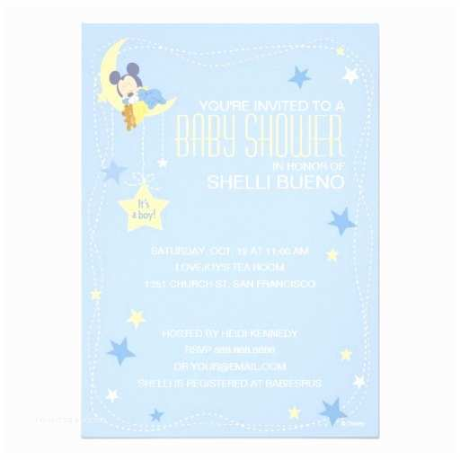 Mickey Mouse Baby Shower Invitations Baby Mickey Mouse Baby Shower Invitation Card
