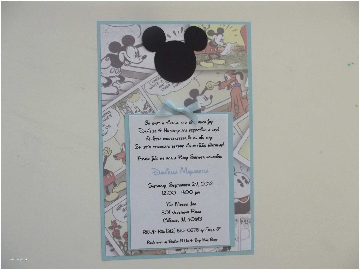 classic mickey mouse invitations vintage
