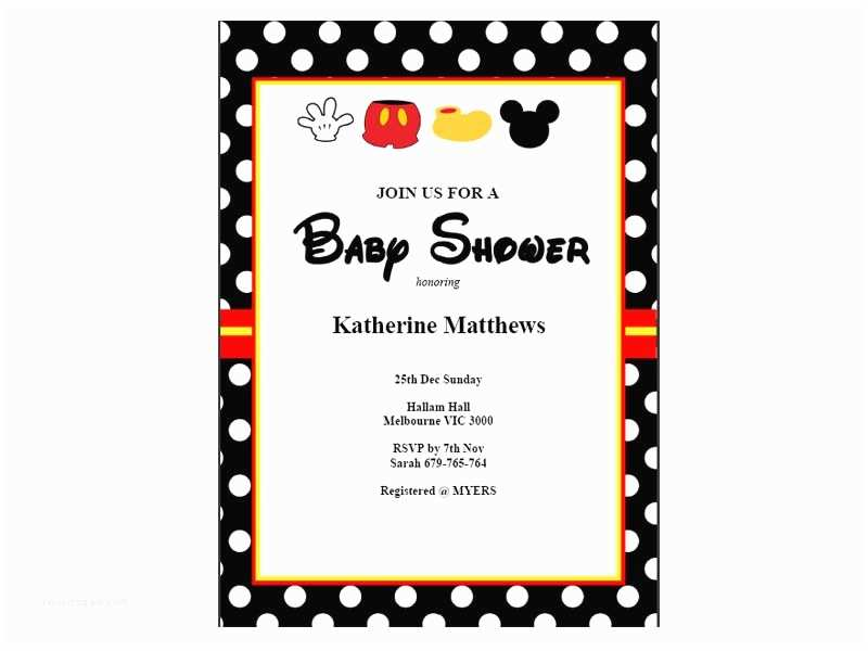 Mickey Mouse Baby Shower Invitations Mickey Mouse Baby Shower Invitations Baby Shower Ideas