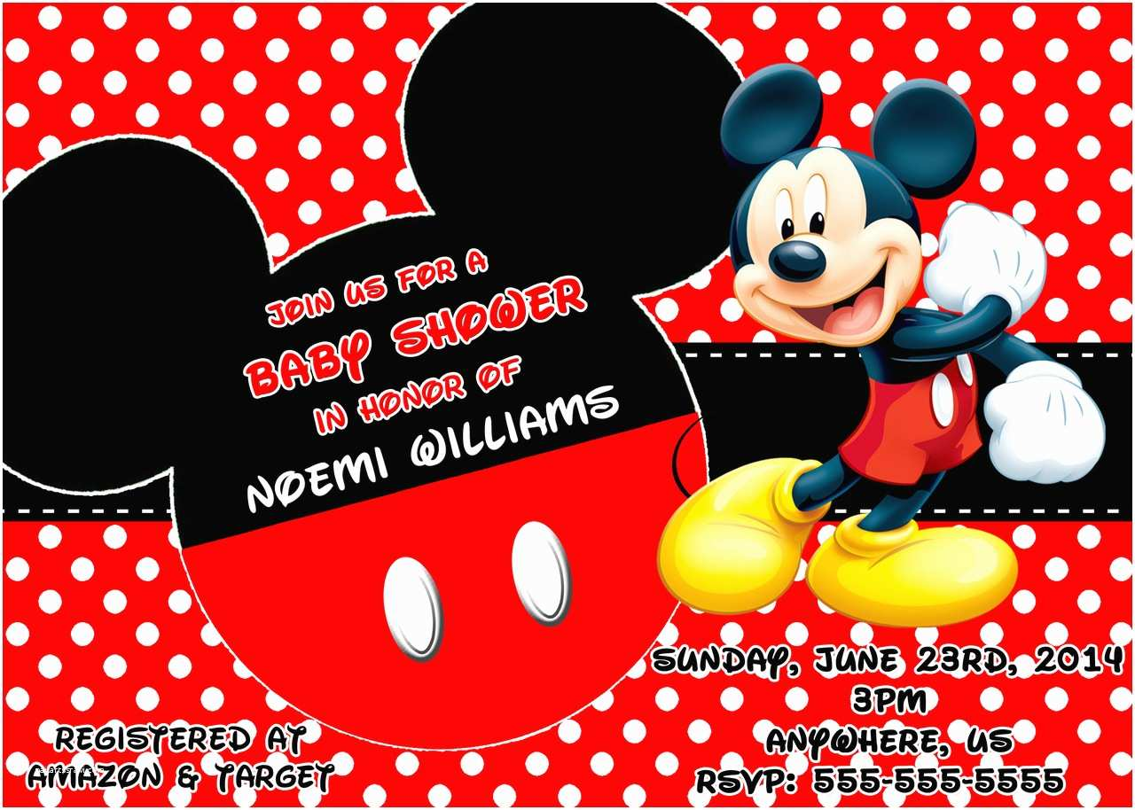 Mickey Mouse Baby Shower Invitations Mickey Mouse Baby Shower Invitations Mickey Mouse