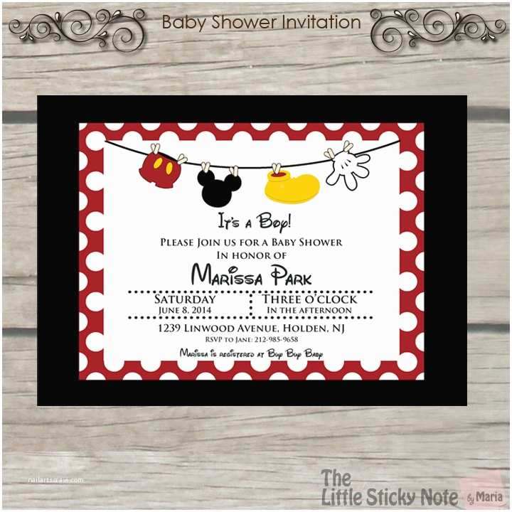 Mickey Mouse Baby Shower Invitations Mickey Mouse Baby Shower Invitations