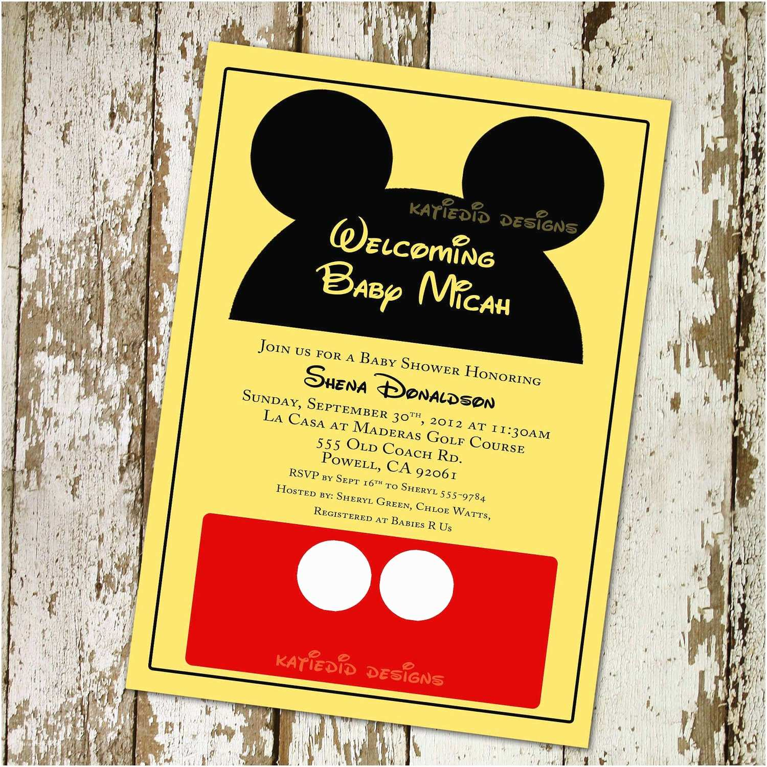 Mickey Mouse Baby Shower Invitations Mickey Mouse Baby Shower Invitations Template
