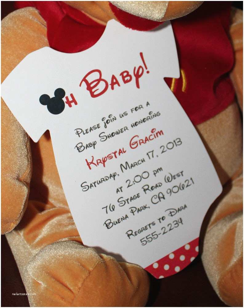 Mickey Mouse Baby Shower Invitations Mickey Mouse Esie Baby Shower Invitation All Wording