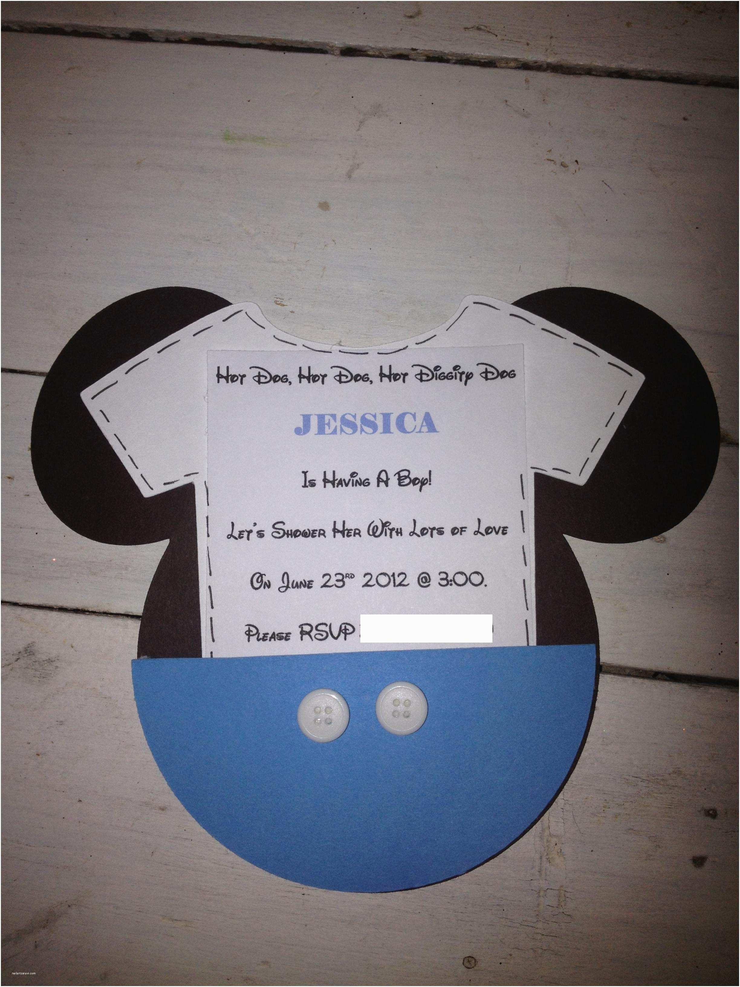 Mickey Mouse Baby Shower Invitations Mickey Mouse Inspired Baby Shower Easy Peasy Pleasy