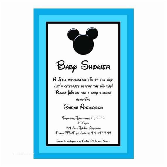 Mickey Mouse Baby Shower Invitations Pics for Mickey Mouse Blank Baby Shower Invitations