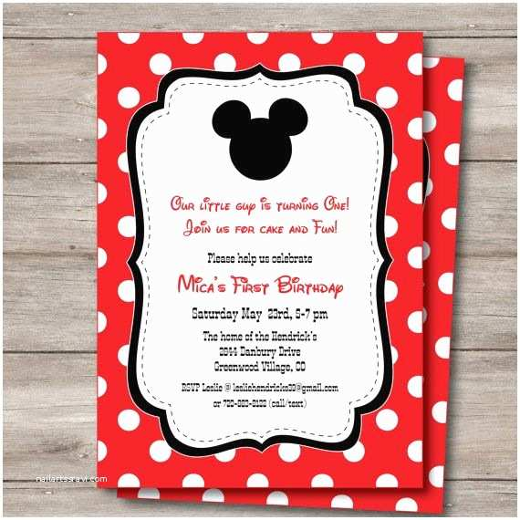 Mickey Mouse Baby Shower Invitations Printable Best 25 Mickey Mouse Invitation Ideas On Pinterest