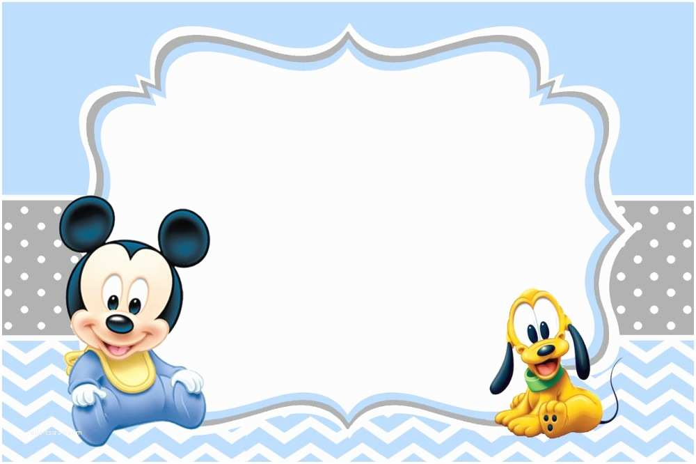 Mickey Mouse Baby Shower Invitations Printable Free Printable Mickey Mouse 1st Birthday Invitations