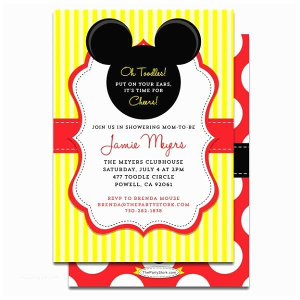 Mickey Mouse Baby Shower Invitations Printable Mickey Mouse Baby Shower Invitation