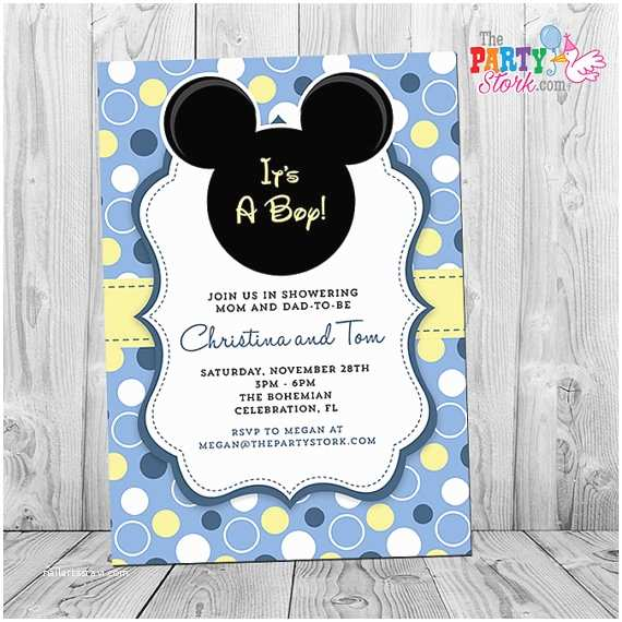 Mickey Mouse Baby Shower Invitations Printable Mickey Mouse Baby Shower Invitation Printable Baby Mickey