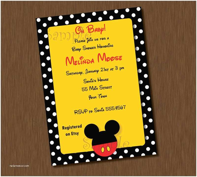 Mickey Mouse Baby Shower Invitations Printable Mickey Mouse Printable Invitation Editable Boy Baby Shower