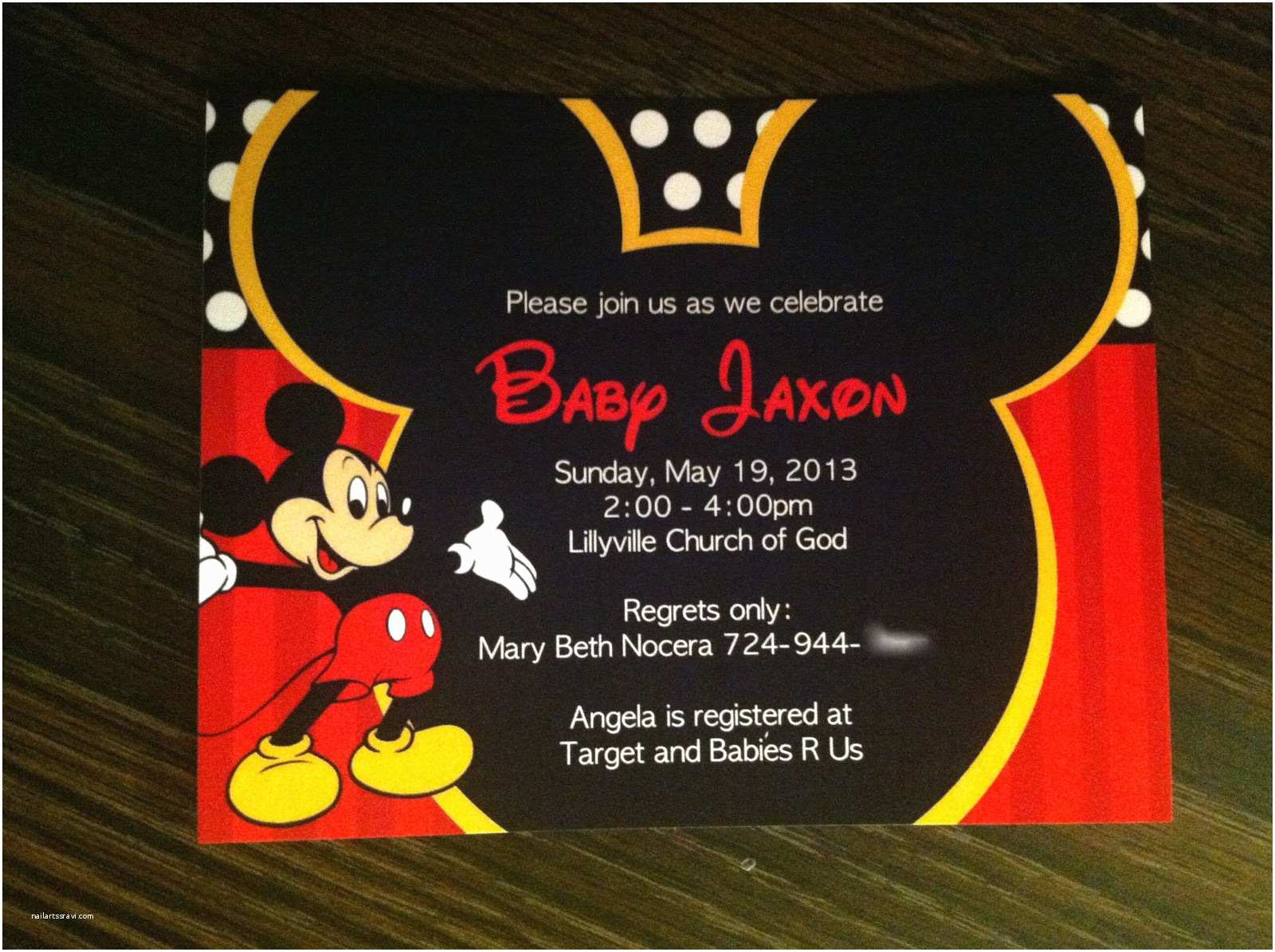 Mickey Mouse Baby Shower Invitations This Awesome Mickey Mouse Baby Shower Invitations Will