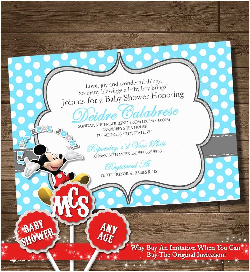 Mickey Mouse Baby Shower Invitations Unavailable Listing On Etsy