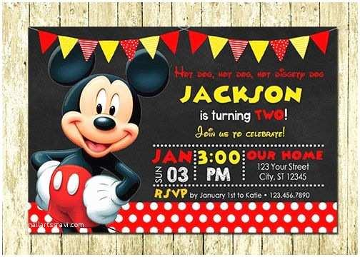 Mickey Mouse Birthday Invitation Best 25 Mickey Mouse Birthday Invitations Ideas On