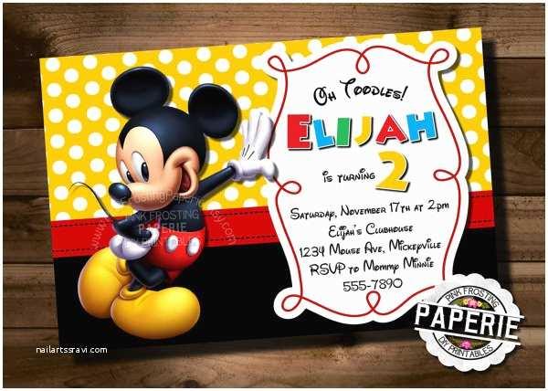 Mickey Mouse Birthday Invitation Mickey Mouse Invitation Template