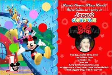 Mickey Mouse Birthday Invitations Free Printable 1st