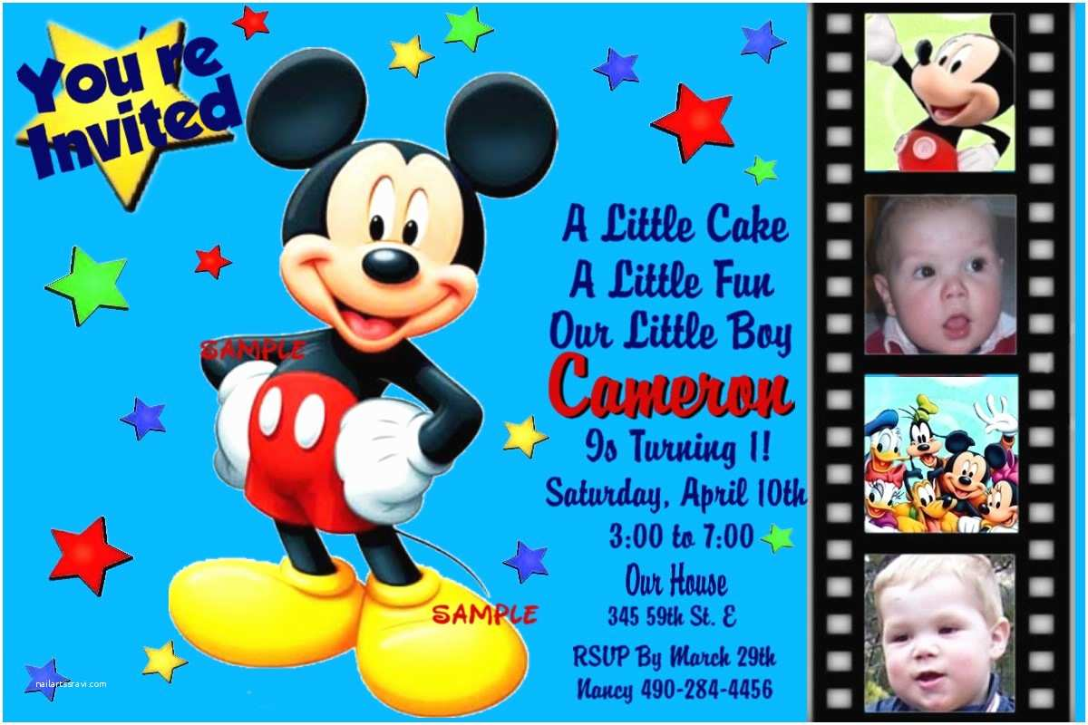 Mickey Mouse Birthday Invitations Mickey Mouse Birthday Invitation Template