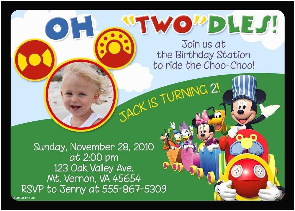Mickey Mouse Birthday Invitations Mickey Mouse Birthday Invitations