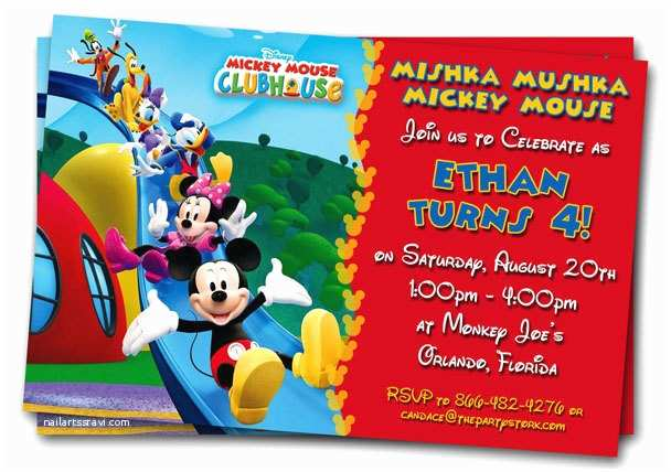 Mickey Mouse Birthday Invitations Mickey Mouse Clubhouse Invitations Printable Personalized