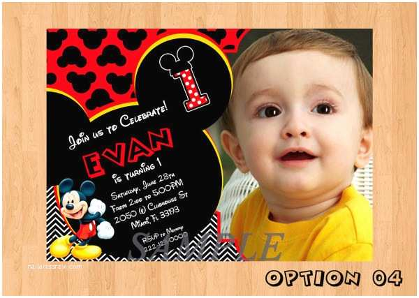 Mickey Mouse Birthday Invitations Mickey Mouse Invitation Templates – 26 Free Psd Vector