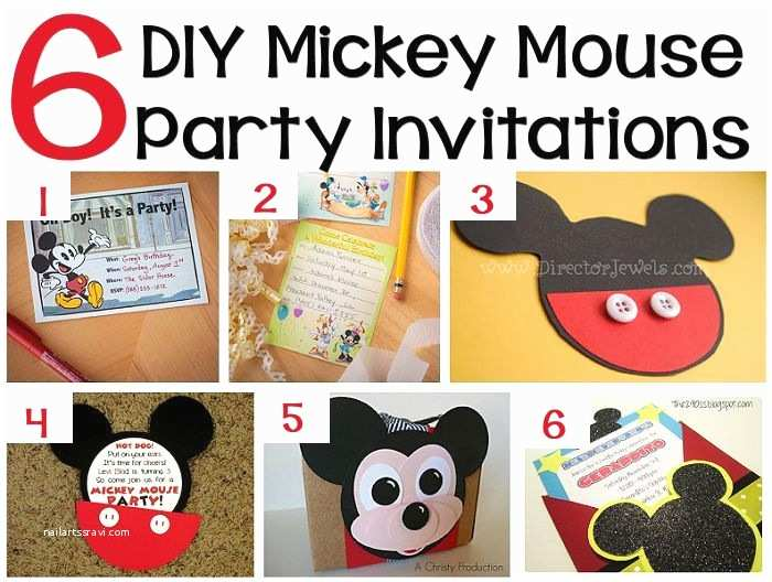 Mickey Mouse Birthday Party Invitations 70 Mickey Mouse Diy Birthday Party Ideas – About Family